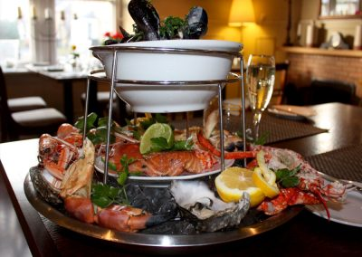 The Allanton Inn seafood platter